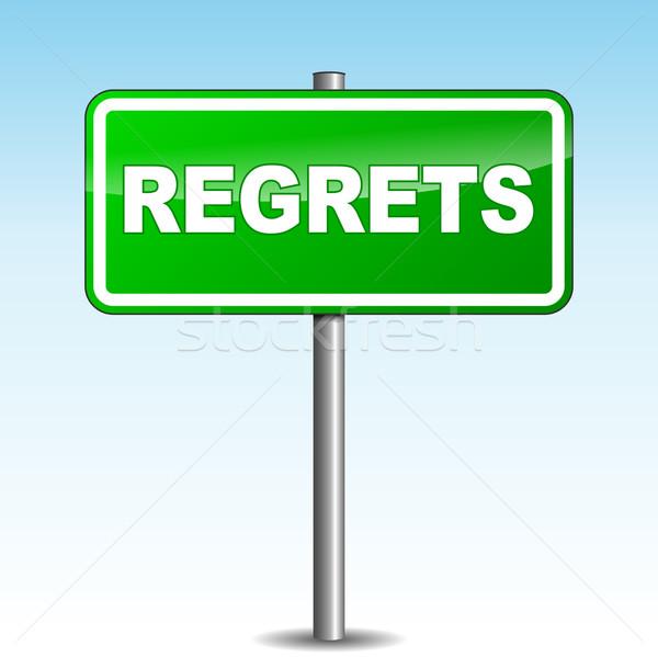 Vector regrets signpost Stock photo © nickylarson974