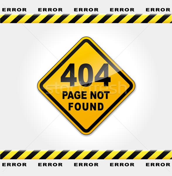 Vecteur erreur web page ordinateur Photo stock © nickylarson974