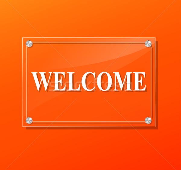 welcome sign Stock photo © nickylarson974