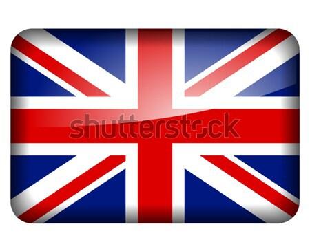 Royaume-Uni pavillon illustration blanche pays drapeaux Photo stock © nickylarson974