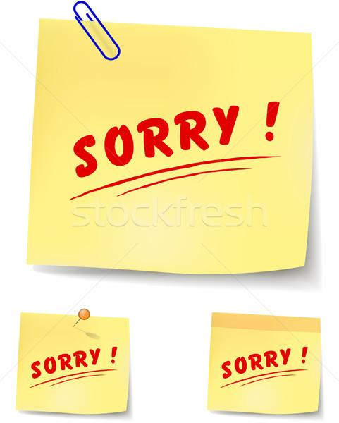 sorry note Stock photo © nickylarson974