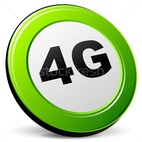 Vetor 4g 3D ícone branco telefone Foto stock © nickylarson974