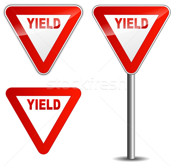 Vector yield sign Stock photo © nickylarson974