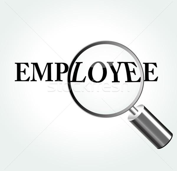 Stock photo: Vector employee theme illustration