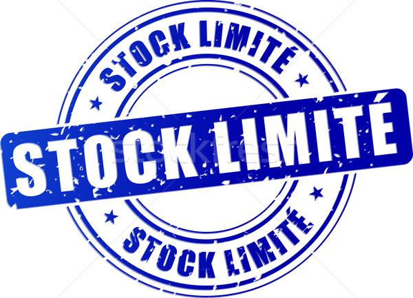 limited stock blue stamp Stock photo © nickylarson974
