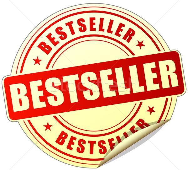 лучший продавец Label иллюстрация дизайна красный Сток-фото © nickylarson974