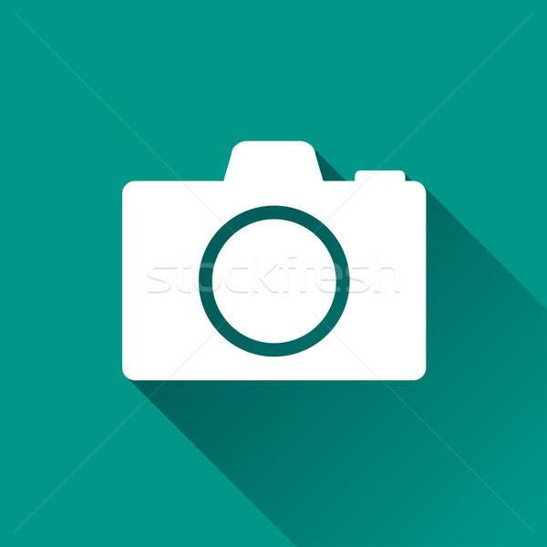Camera ontwerp icon illustratie geïsoleerd internet Stockfoto © nickylarson974