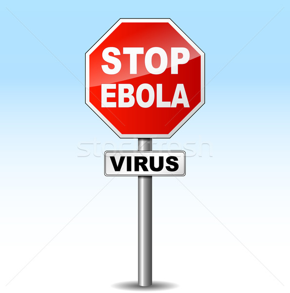 Vector ebola virus sign Stock photo © nickylarson974