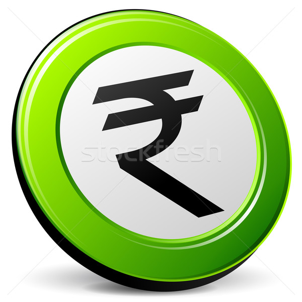 Vector green rupee icon Stock photo © nickylarson974