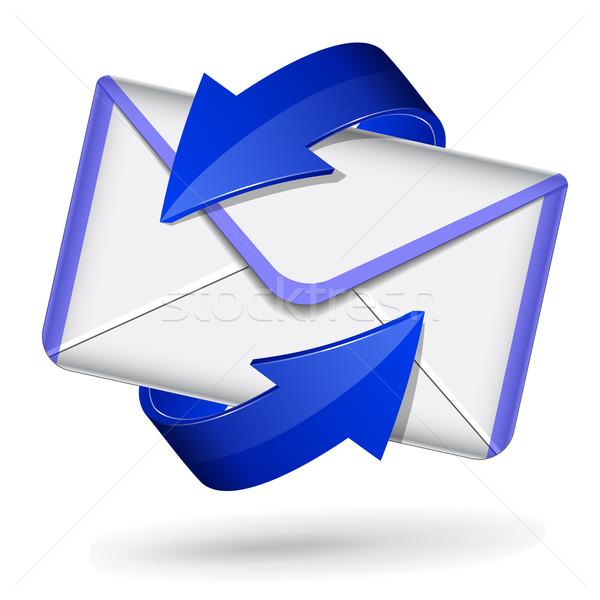 3d blue mail icon Stock photo © nickylarson974
