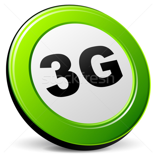 Vector 3g 3D icon witte computer Stockfoto © nickylarson974