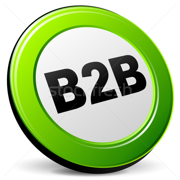 Wektora b2b 3D ikona biały działalności Zdjęcia stock © nickylarson974