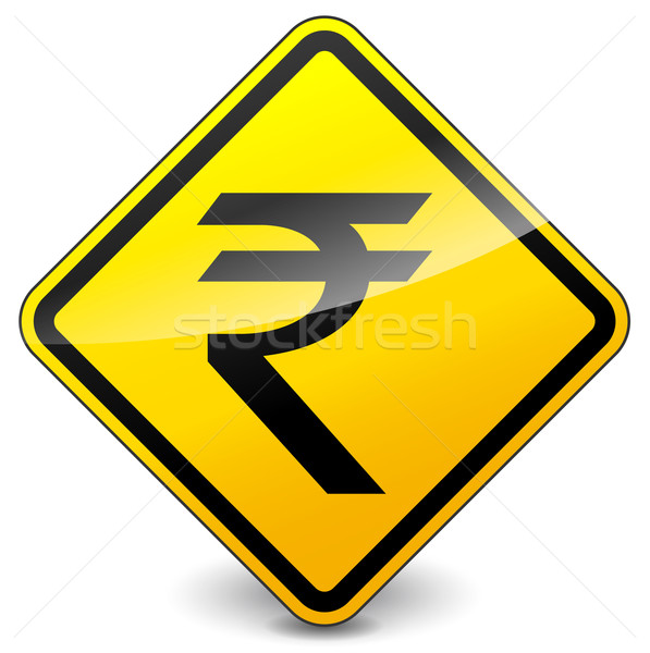 Vector yellow rupee icon Stock photo © nickylarson974
