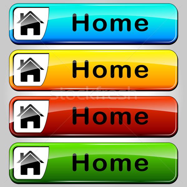 Vector home buttons Stock photo © nickylarson974