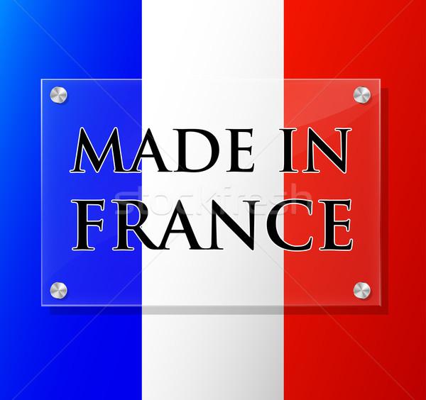 Vector made in france sign Stock photo © nickylarson974