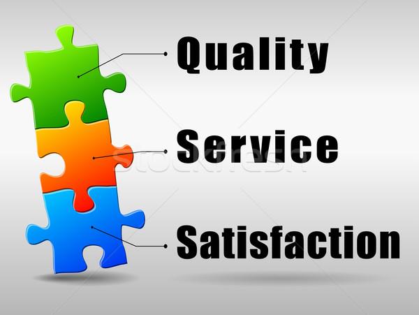 Vector satisfaction marketing concept Stock photo © nickylarson974