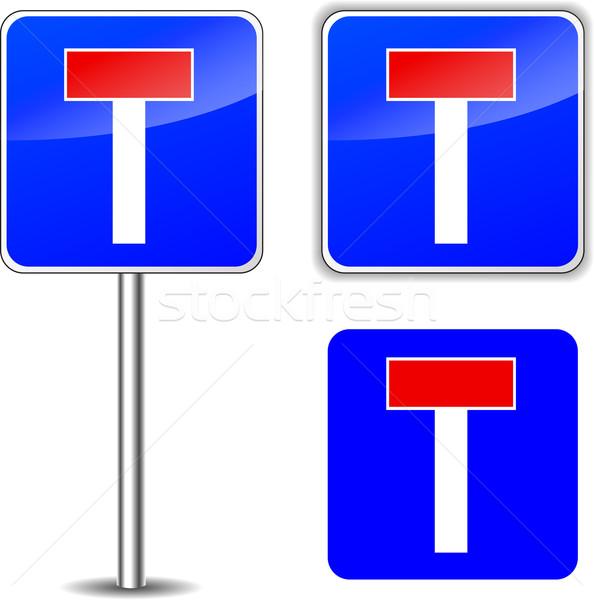 Vektor keine exit sign verlassen Schild weiß Stock foto © nickylarson974
