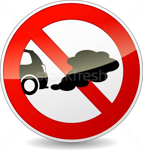 Dohányozni tilos autók illusztráció kör felirat út Stock fotó © nickylarson974
