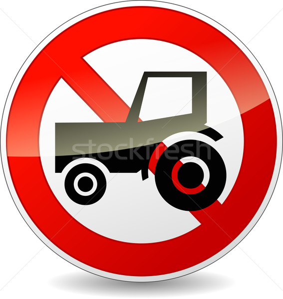 no tractor sign Stock photo © nickylarson974