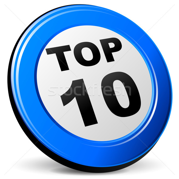 top ten blue icon Stock photo © nickylarson974