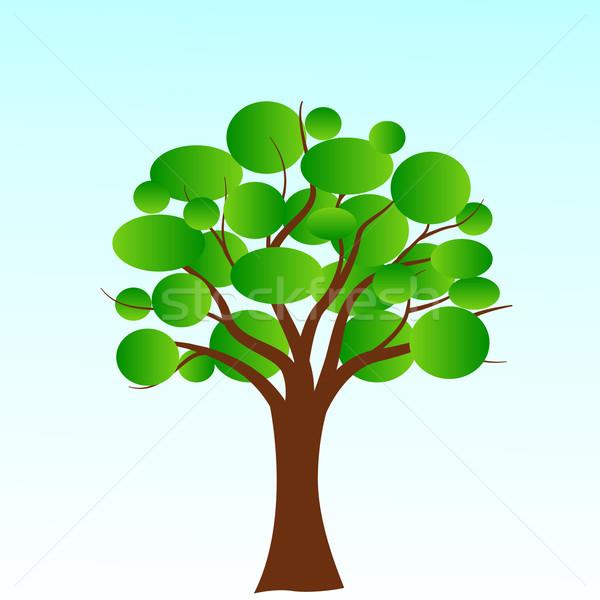 Foto d'archivio: Vettore · bolla · albero · verde · bolle · natura