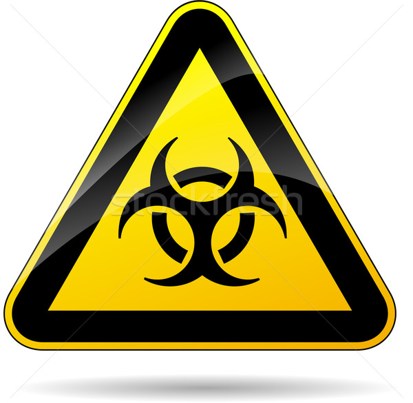biohazard yellow sign Stock photo © nickylarson974
