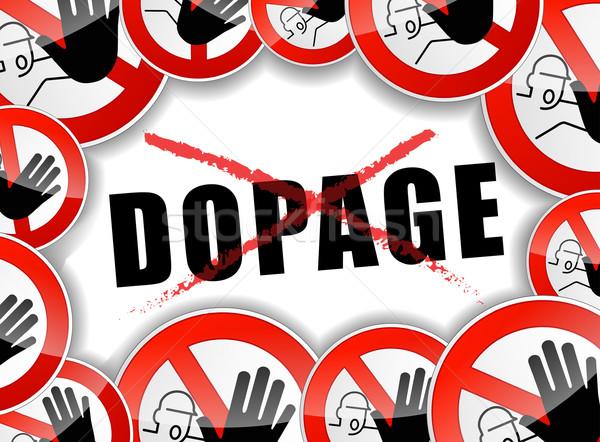 no doping concept illustration Stock photo © nickylarson974