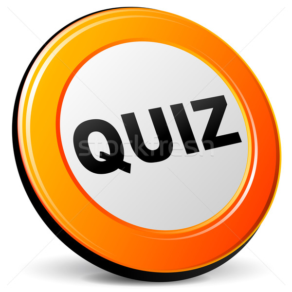 Quiz icon illustratie 3D ontwerp oranje Stockfoto © nickylarson974