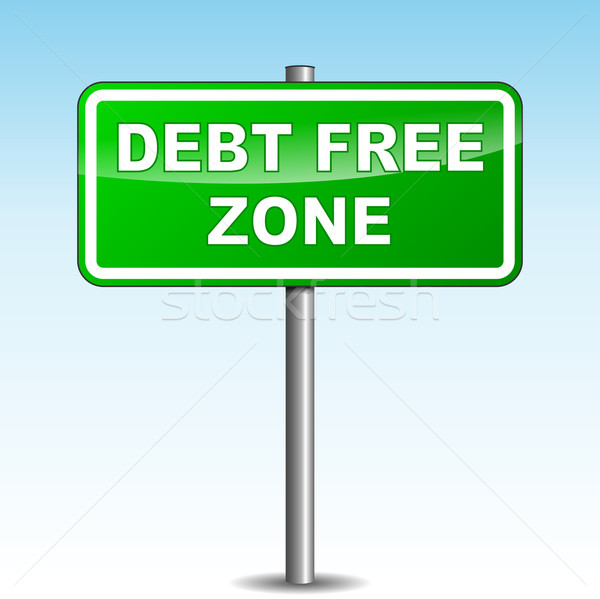 Vector debt free signpost Stock photo © nickylarson974