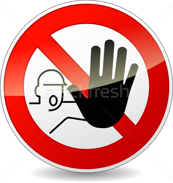 Vector no entry sign Stock photo © nickylarson974
