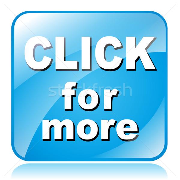 Clic más icono ilustración azul cuadrados Foto stock © nickylarson974