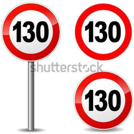 Vecteur cent cinquante signe quarante blanche Photo stock © nickylarson974
