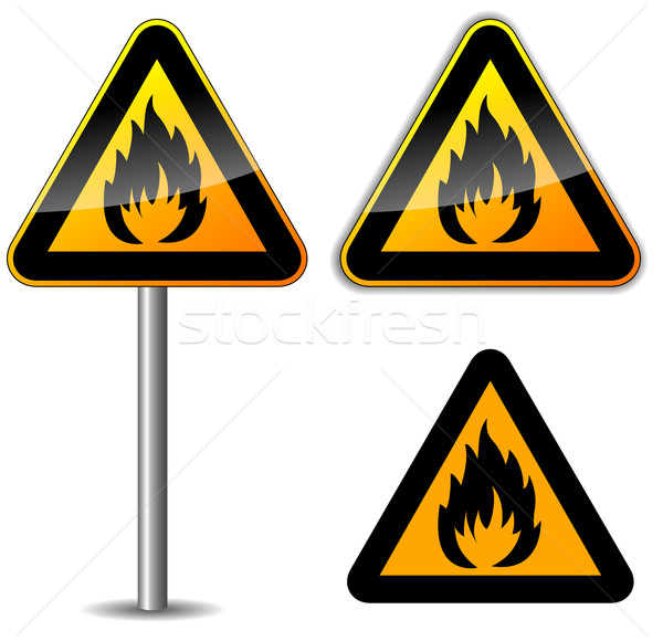 Vector flammable sign Stock photo © nickylarson974