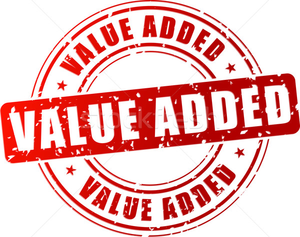 Vector value added stamp Stock photo © nickylarson974