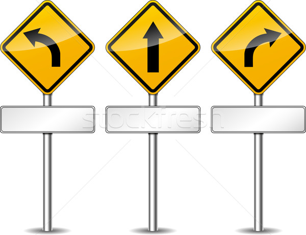 Vector yellow directional signs Stock photo © nickylarson974