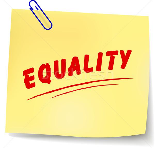 вектора равенство сообщение белый бумаги дизайна Сток-фото © nickylarson974