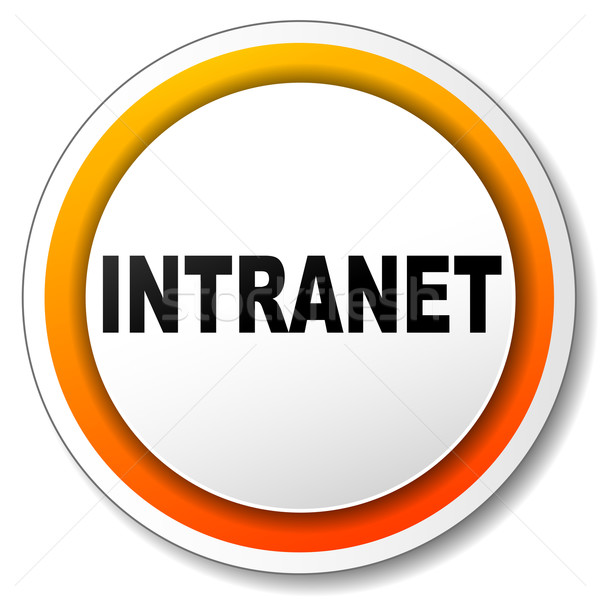 Stock fotó: Intranet · ikon · illusztráció · fehér · narancs · terv
