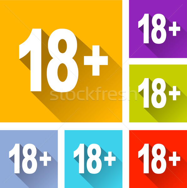 more eighteen icons Stock photo © nickylarson974