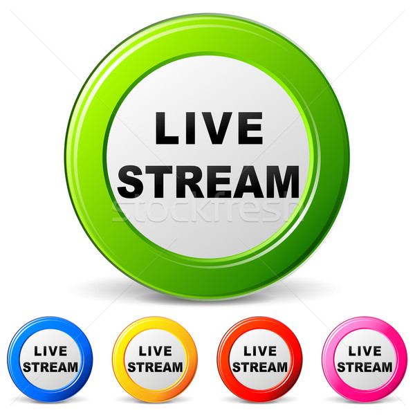 Vector live stream icons Stock photo © nickylarson974