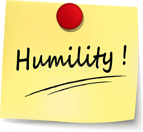 Foto stock: Humildade · assinar · ilustração · amarelo · nota