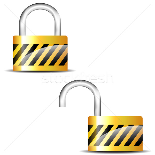 padlock close and padlock open Stock photo © nickylarson974