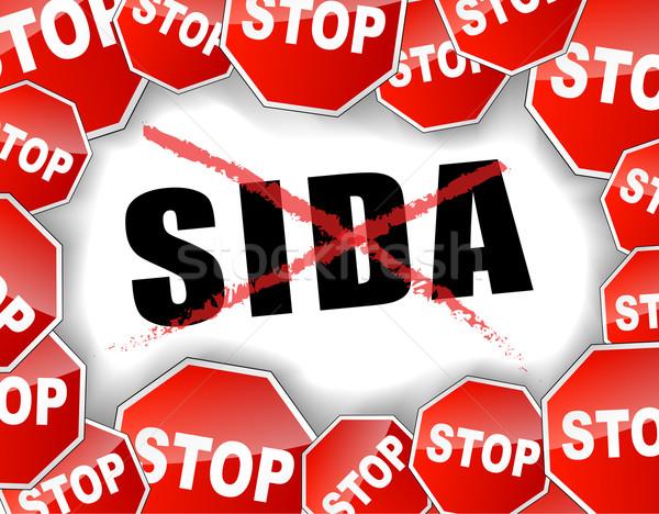 Stop aids french Stock photo © nickylarson974