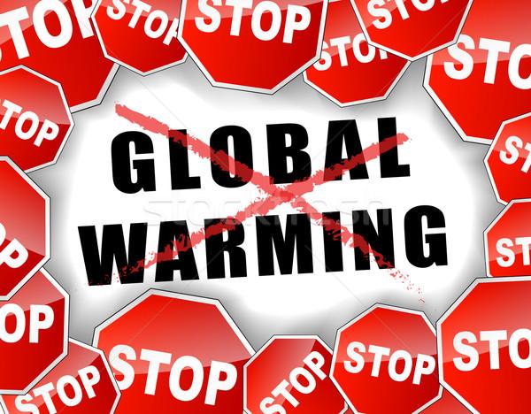 Stop global warming concept Stock photo © nickylarson974