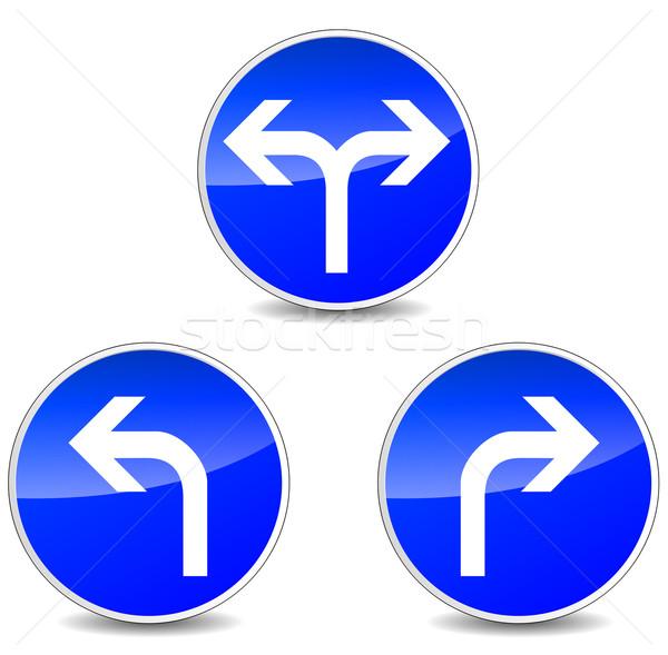 Vector turning signs Stock photo © nickylarson974