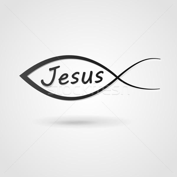 Stock photo: Jesus fish