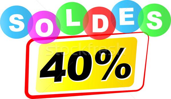 вектора продажи икона сорок процент белый Сток-фото © nickylarson974