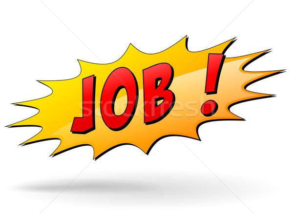 Vector job sign Stock photo © nickylarson974