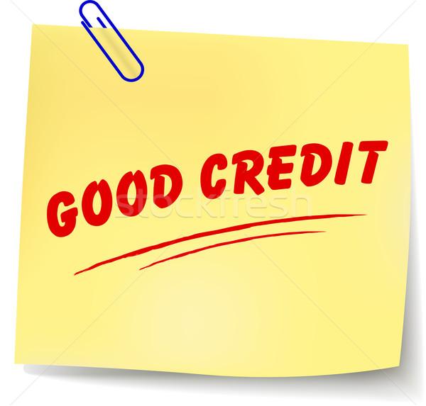 Vector good credit message Stock photo © nickylarson974