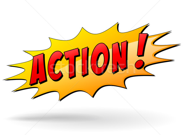 Vector action star Stock photo © nickylarson974