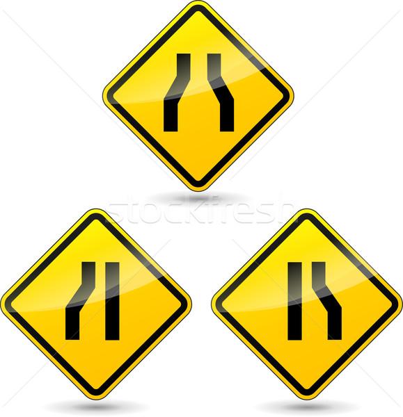 Vector narrow road sign Stock photo © nickylarson974